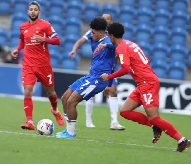 Wing play - Colchester United winger Courtney Senior in action against Leyton Orient Picture: STEVE BRADING