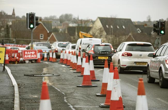 Road closed after drivers make 'dangerous' manoeuvres to avoid works