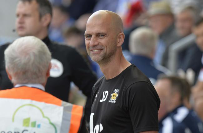 New role - former Colchester United boss Joe Dunne, pictured during his spell as Cambridge United manager Picture: STEVE BRADING