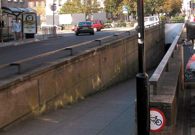The underpass, in Crouch Street, Colchester
