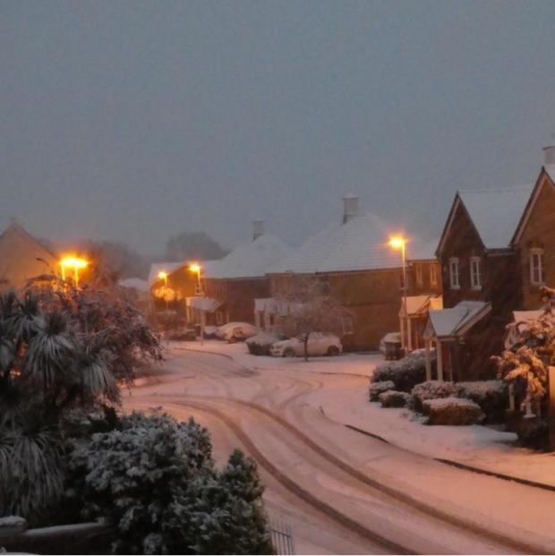 Gazette: Christine Chambers took this picture of the snow
