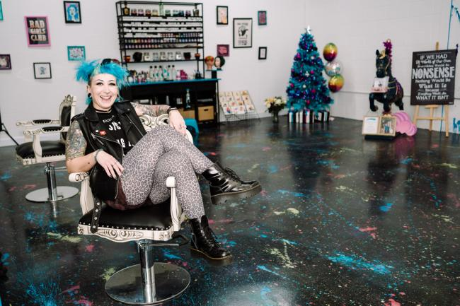 Arty - Verity Clarke who has opened a new cutting edge hair salon