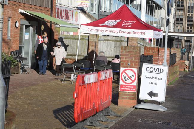 A temporary Covid-19 vaccine clinic was set up in Clacton last month