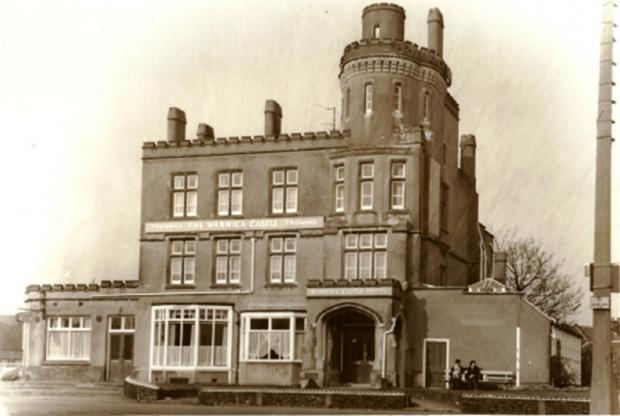 Gazette: Now demolished - the Warwick Castle, in Old Road, Clacton, once stood on the site of the current Aldi store. It was listed as an alehouse in 1902
