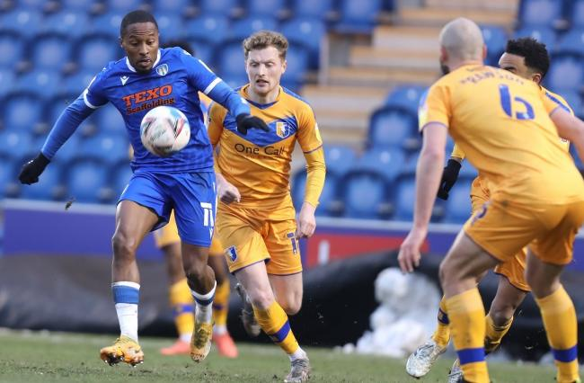Talent - Callum Harriott in action for Colchester United during their 2-2 draw with Mansfield Town Picture: STEVE BRADING