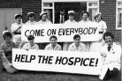 Showing their support - nurses from Myland Hospital backing the hospice fundraising appeal in May 1983
