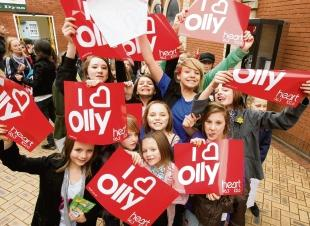 Devoted: Young fans were bowled over when they saw Olly Murs