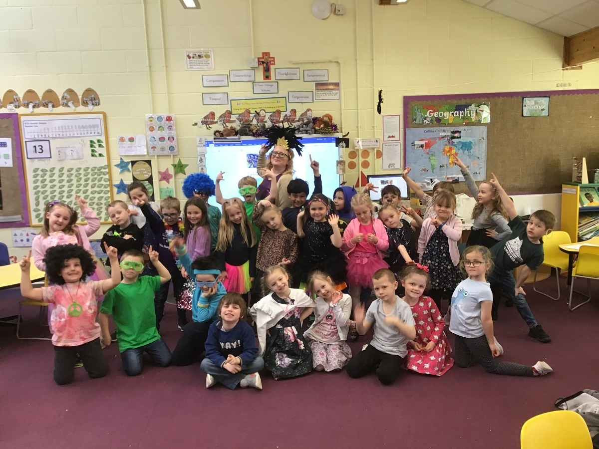 Party time - Two Villages Year One class with teacher Tacita Styant