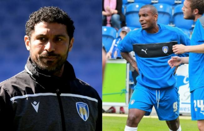 Support - new Colchester United interim head coach Hayden Mullins (left) has been backed by his former Crystal Palace team-mate and ex-U's striker Clinton Morrison to keep the club up Pictures: RICHARD BLAXALL/NIGEL BROWN