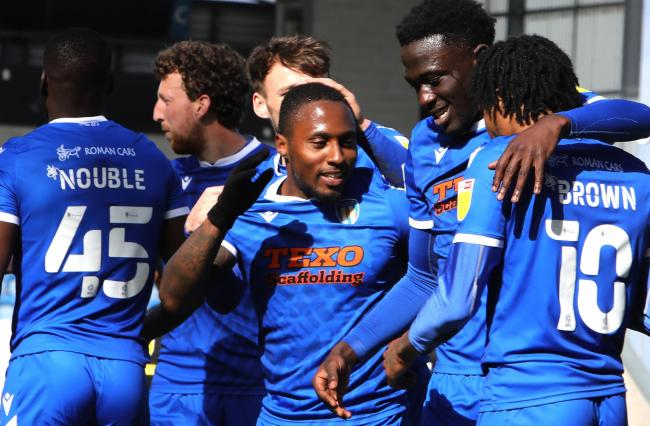 Stepping up - Colchester United winger Callum Harriott says he will give everything to keep the club in League Two, in their remaining six games of the season Picture: STEVE BRADING