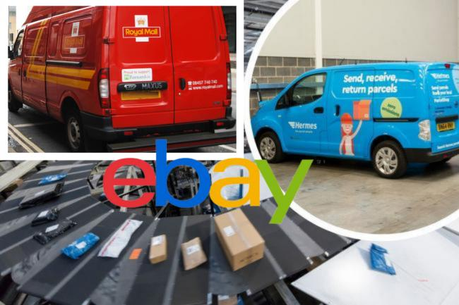 Royal Mail and Hermes have responded to claims that parcels are being sold on eBay
