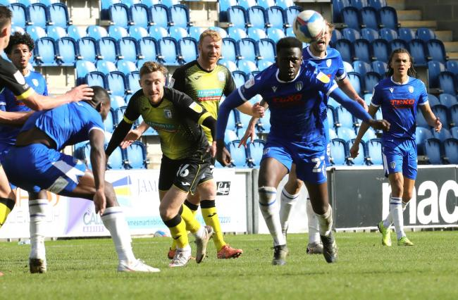 Impressive - Brendan Wiredu has been excellent for Colchester United since joining them from Charlton Athletic in the January transfer window Picture: STEVE BRADING