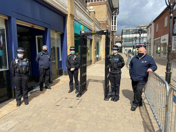 Mobile 'knife arch' deployed in town centre to catch criminals