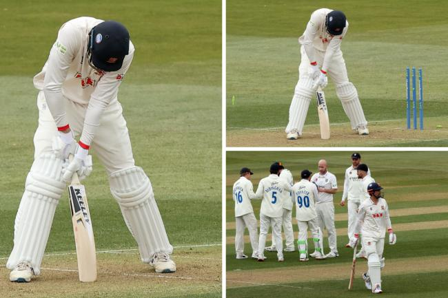 Eventful - 18 wickets fell on the first day day at the County Ground    Pictures: GAVIN ELLIS