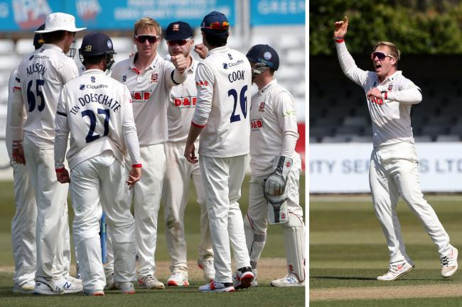 Pleased - Simon Harmer hailed Essex's character as they fought back to claim a remarkable victory against Durham Pictures: GAVIN ELLIS