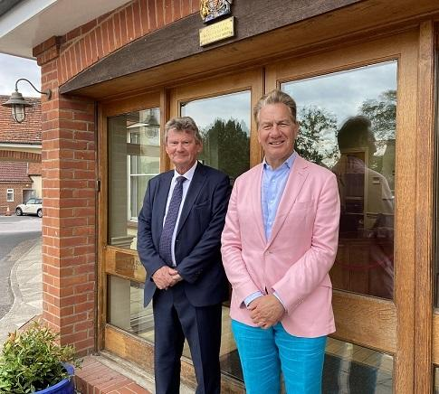 Walter Scott with Michael Portillo