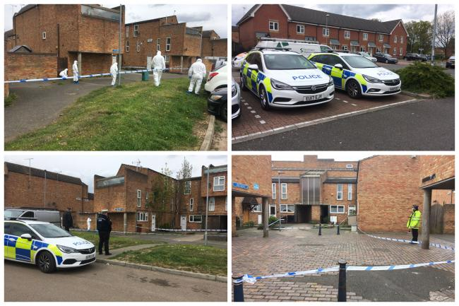 Police and forensics are at Iris Mews in Laindon following a fatal stabbing