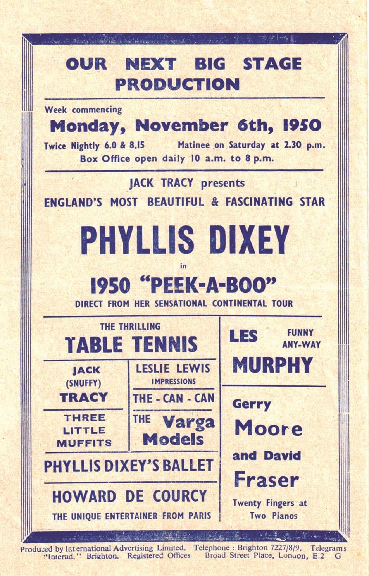 Phyllis Dixey Vince Rayner