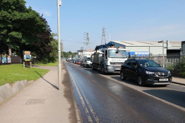 Gazette: Photos show a leak causing delays at Hythe, Colchester.  Photo: Richard Fanders
