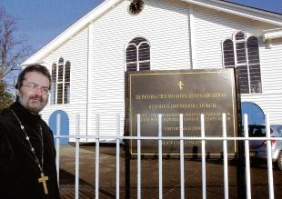 Memorial plan – the Rev Andrew Phillips wants a cross put up at St John's Orthodox Church