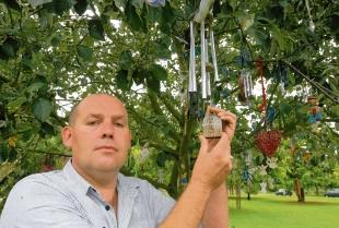 In loving memory – Marlon Sherman with a wind chime