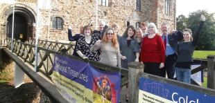 Birthday celebrations – staff at Colchester Castle mark its 150 years of being a museum