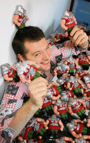 Man-made – Jamie Moakes with some of his figurines