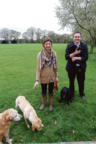 Delighted – Catherine Clouston, of Love Myland, and Colchester councillor Martin Goss, at Mile End recreation ground