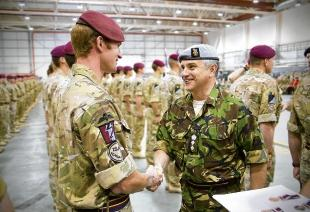 A REME Soldier With Col Rod Williams