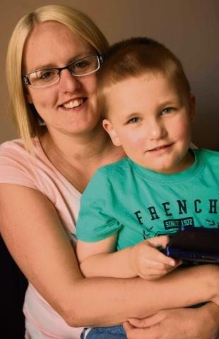 Appeal – Lucy McLure is pressing for a special school place to be found for her four-year-old son, Frankie