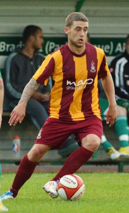 New recruit - Jack Compton, pictured in action here playing for Bradford City, has joined the U's from Portsmouth.