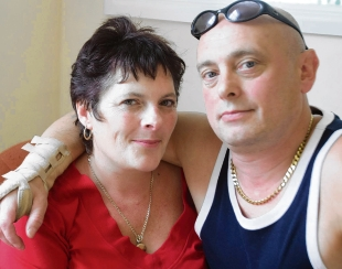 Upset – Robert Joyce, who has only just been diagnosed, and his wife Annie