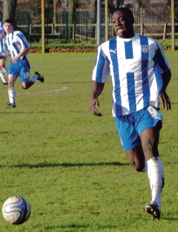Gazette: On target - Freddie Ladapo scored Colchester United under-21s' second goal in their 2-2 draw with Millwall.