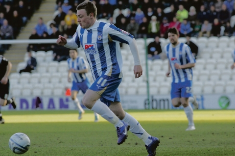 On target - Freddie Sears scored Colchester United's equaliser from the spot against Hartlepool United.