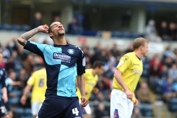 Loan ranger - Colchester United have been linked with a loan move for Arsenal midfielder Craig Eastmond, pictured here during a loan spell with Wycombe Wanderers last season.