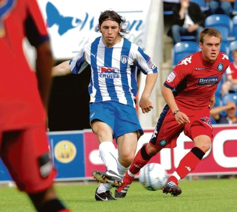 On target - John-Joe O'Toole scored when Colchester took on Harlow Town in last season's Essex Senior Cup.