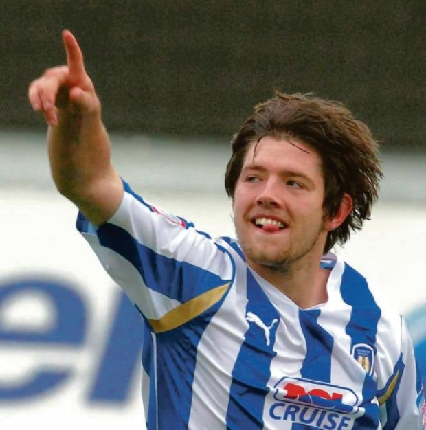On target - Anthony Wordsworth scored Colchester United's opening goal in their 2-0 win over Leyton Orient tonight.