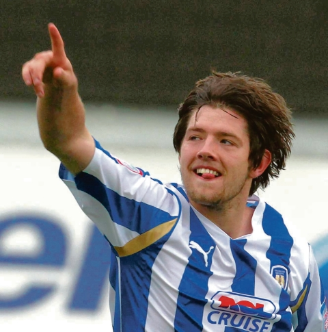 On target - Anthony Wordsworth scored Colchester United's opening goal in their win over Bury this afternoon.