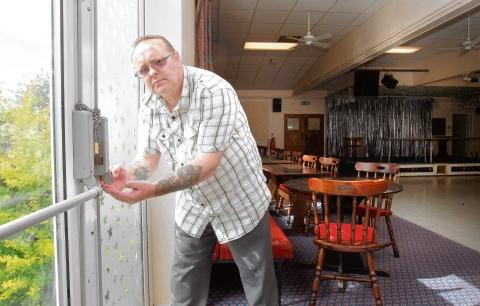 Ray Martin checks the damage at Greenstead Social Club