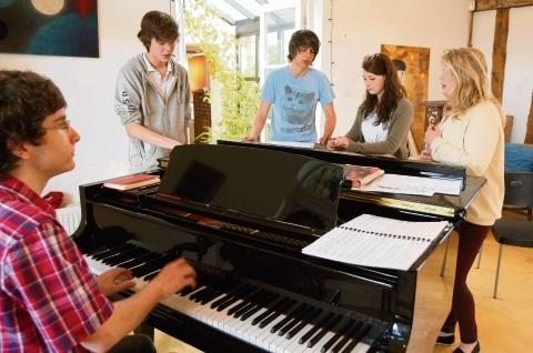Students practise their singing skills