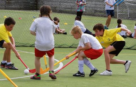 Pupils try their hand at hockey