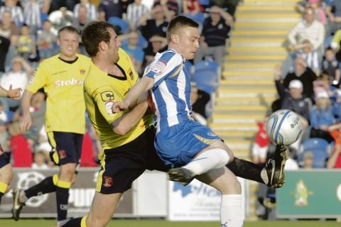 Freddie Sears in service for Colchester United.