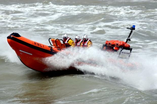 Lifeboat crews help stricken yacht