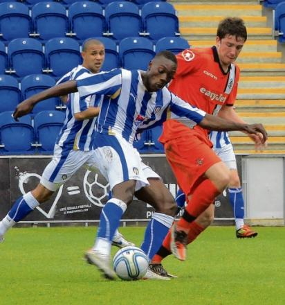 Consolation - Freddie Ladapo scored both Colchester goals in their 8-2 defeat at QPR this afternoon.