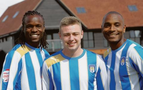 Clinton Morrison (right) scored his first goal in a Colchester United shirt in their 2-1 defeat by Ipswich