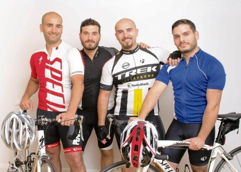Arif Ahmet, left, with his brothers, Tarik, Tarkan and Hakan
