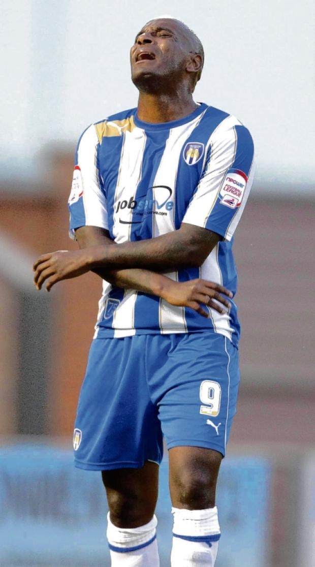 Left out - Clinton Morrison was on the bench for Colchester United's 1-0 defeat at Brentford. Picture: STEVE BRADING
