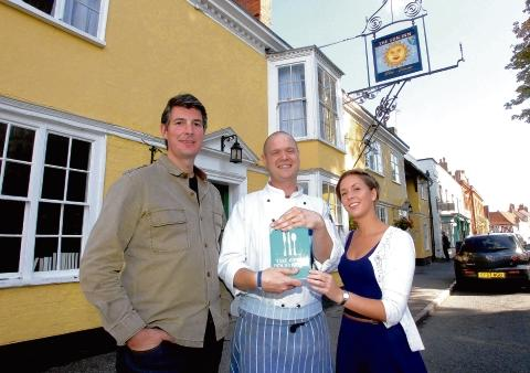 Fine dining – the Sun Inn has been highly marked in the Good Food Guide 2013
