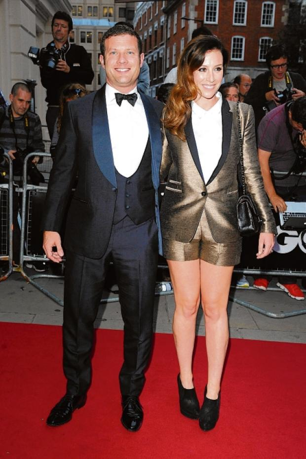 Dermot O'Leary with fiancee Dee