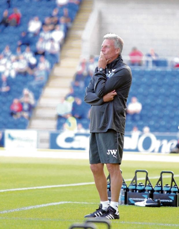 Pensive - Colchester United manager John Ward. Picture: ADRIAN RUSHTON (CO69248-143)